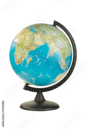 Earth globe isolated on the white background with clipping path