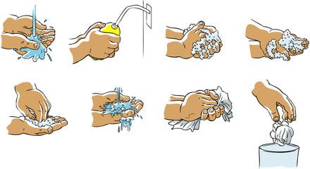 Hygiène mains enfant à l'école