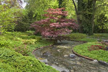 Japanischer Garten mit Bach