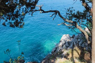 Fragment coast near to Budva town.Montenegro.