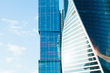 office towers from glass and meta
