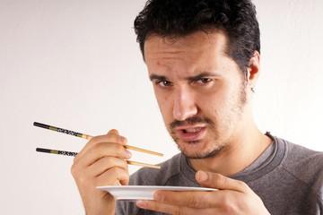 Man with chopstick