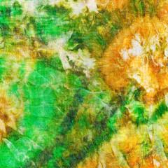abstract pattern of green yellow batik