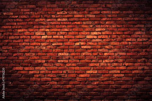 Leinwandbild Motiv Old grunge brick wall background