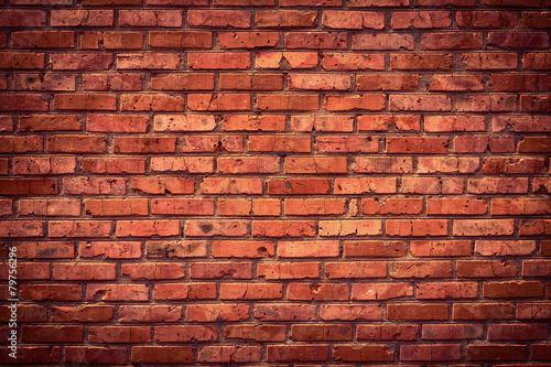 Old grunge brick wall background - 79756296