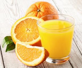 Fresh orange fruits with juicy