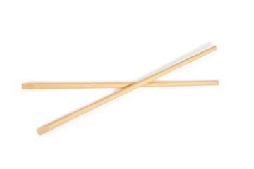 chopsticks in white background