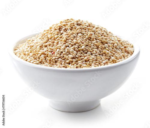 Fotobehang Granen bowl of white quinoa seeds