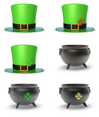St. Patrick's Day Hat and Cauldron