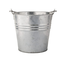 Metal Pail with a Clipping Path
