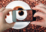 Photo of coffee with your smartphone