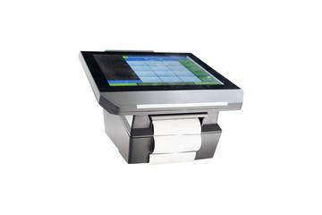 Slim profile touchscreen point of sale terminal