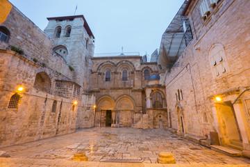 Jerusalem - Church of the Holy Sepulchre at dusk