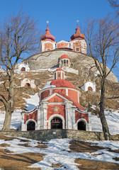 Banska Stiavnica - middle and superior church baroque calvary