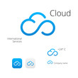 Cloud stylish logo and icons - 79759836