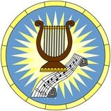Luther rose (Christian Symbol), circular emblem