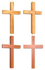 Wooden Cross 3D Set 3