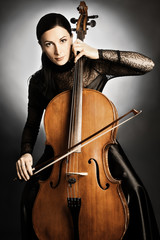 Cello player cellist playing