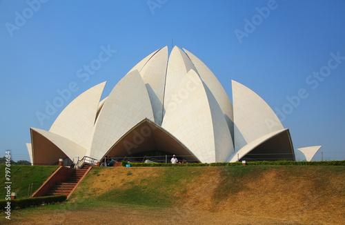 Aluminium India Lotus temple in New Delhi, India