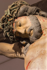 Banska Stiavnica - carved statue of Christ on the cross