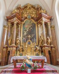 Trnava - Main altar  in Jesuits church.