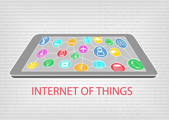 Internet of things vector illustration of smart phone