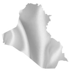 イラク 地図 シルエット