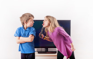 Arguing over the remote control