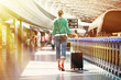 canvas print picture - Girl in the airport