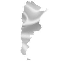 アルゼンチン 地図 シルエット