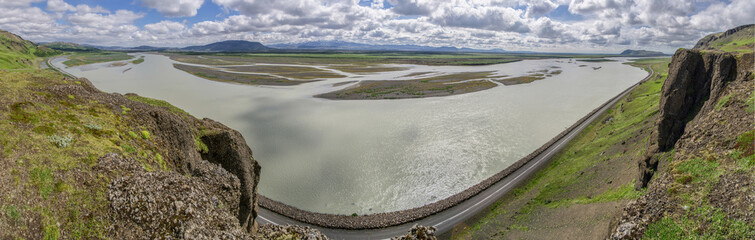 Panorama of Iceland river