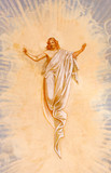 Banska Stiavnica - Resurrected Christ fresco from Calvary