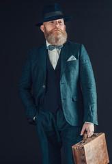 Retro stylish businessman