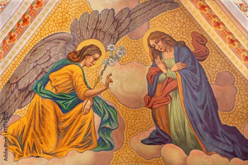 Banska Stiavnica - Annunciation fresco in parish church