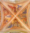 Banska Stiavnica - The fresco of Nativity in parish church