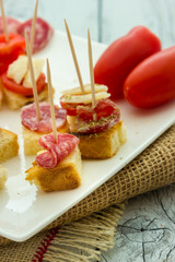 Finger food salami