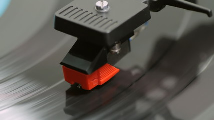 Record Player Needle With Record
