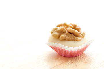 Walnuts with almond paste