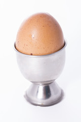 Huevo cocido.