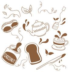 tea and breakfast doodle
