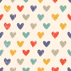 colorful sketchy love pattern