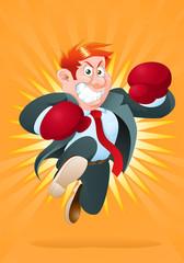 boxer businessman