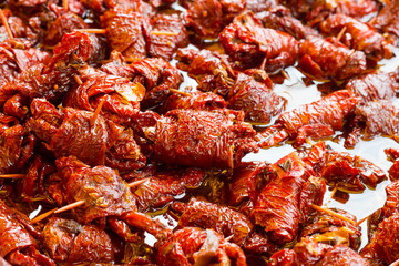 Dried tomatoes stuffed