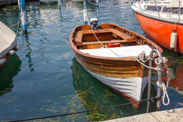 Boat on Iseo lake