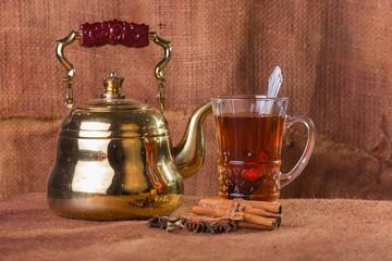Arabic tea. Tea.