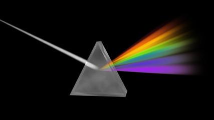 Prism Separating Light Spectrum