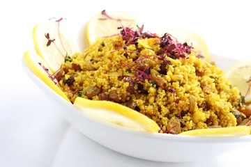 couscous  salad in bowl