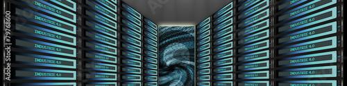 Leinwanddruck Bild sf5 ServerFront teaser7 - Industrie 4 0 server rack 4zu1 g3382