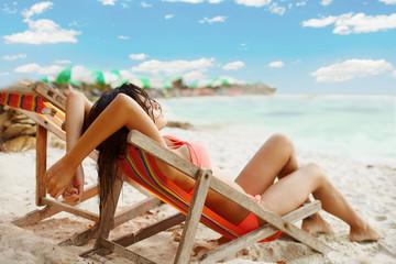 Relax under sun