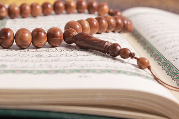 Tasbih is a string of prayer beads which is by Muslims